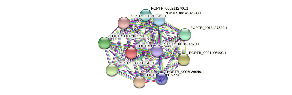POPTR_0001s47480.1 protein (Populus trichocarpa) - STRING interaction network