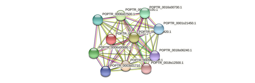 POPTR_0002s04750.1 protein (Populus trichocarpa) - STRING interaction network