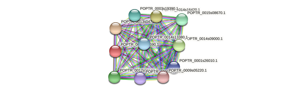 POPTR_0002s08690.1 protein (Populus trichocarpa) - STRING interaction network