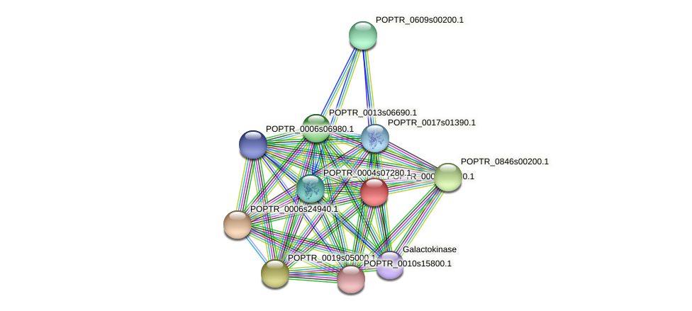 POPTR_0002s11750.1 protein (Populus trichocarpa) - STRING interaction network