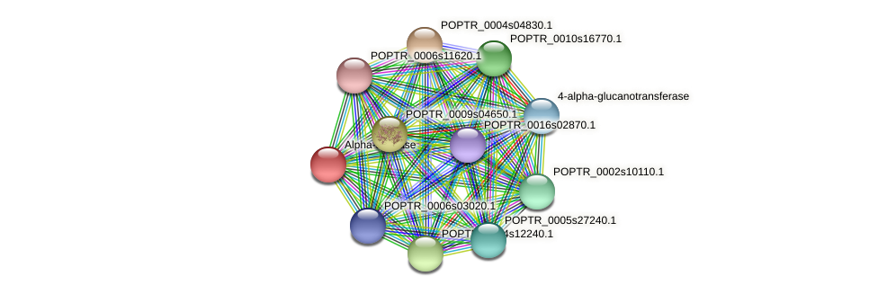 POPTR_0002s12790.1 protein (Populus trichocarpa) - STRING interaction network