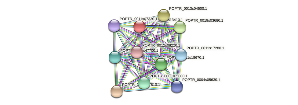 POPTR_0002s13410.1 protein (Populus trichocarpa) - STRING interaction network