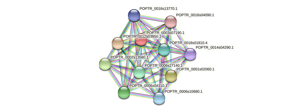 POPTR_0003s07190.1 protein (Populus trichocarpa) - STRING interaction network