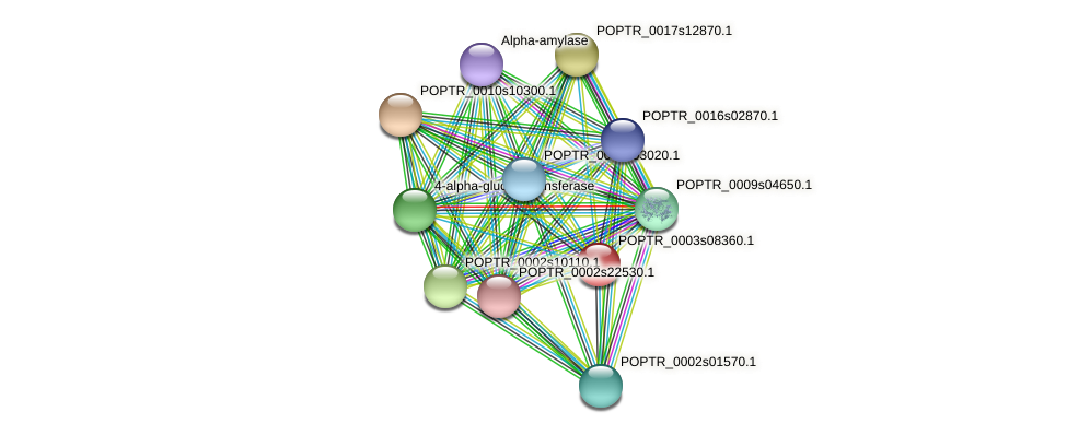 POPTR_0003s08360.1 protein (Populus trichocarpa) - STRING interaction network