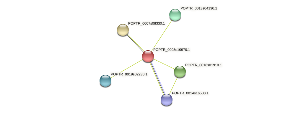 POPTR_0003s10970.1 protein (Populus trichocarpa) - STRING interaction network