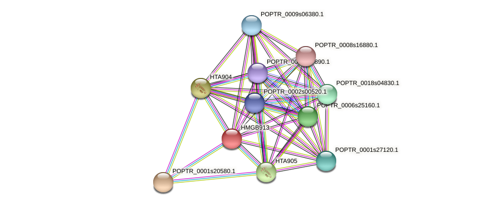 POPTR_0003s13780.1 protein (Populus trichocarpa) - STRING interaction network