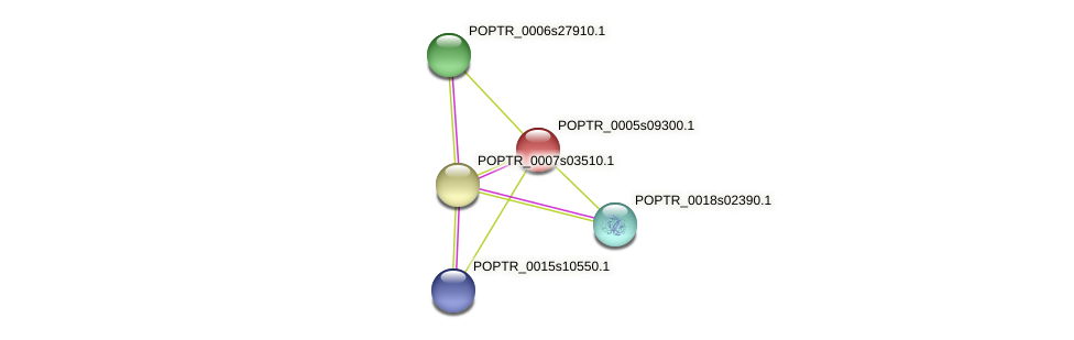 POPTR_0005s09300.1 protein (Populus trichocarpa) - STRING interaction network