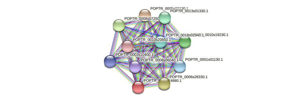 POPTR_0005s14880.1 protein (Populus trichocarpa) - STRING interaction network
