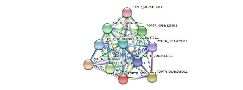 POPTR_0005s20060.1 protein (Populus trichocarpa) - STRING interaction network