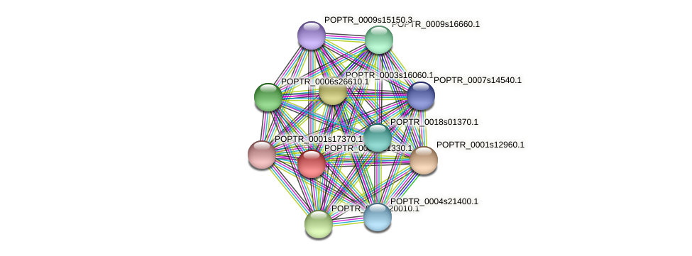POPTR_0005s21330.1 protein (Populus trichocarpa) - STRING interaction network