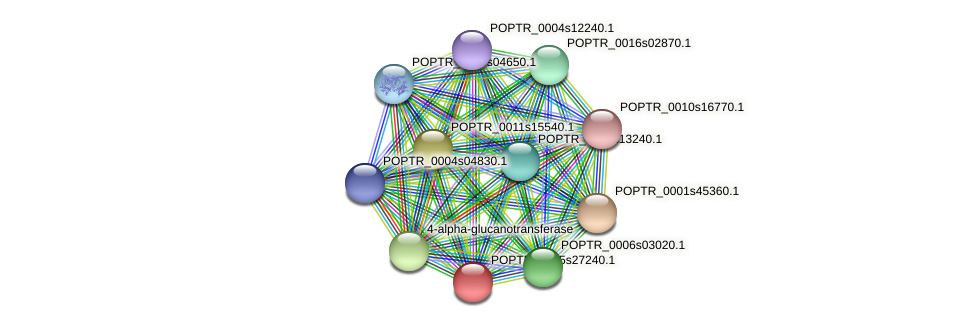 POPTR_0005s27240.1 protein (Populus trichocarpa) - STRING interaction network