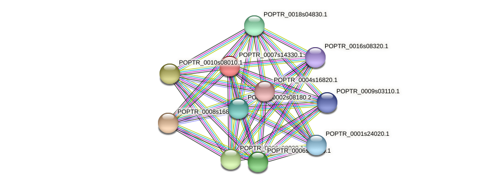 POPTR_0007s14330.1 protein (Populus trichocarpa) - STRING interaction network