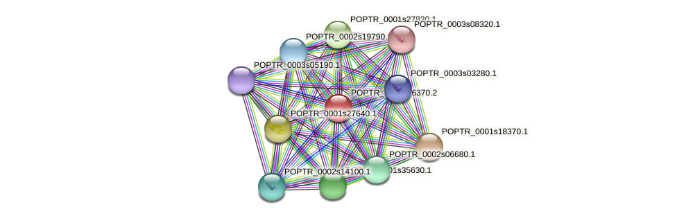 POPTR_0008s06370.1 protein (Populus trichocarpa) - STRING interaction network