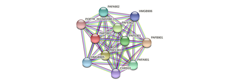 POPTR_0011s04770.1 protein (Populus trichocarpa) - STRING interaction network