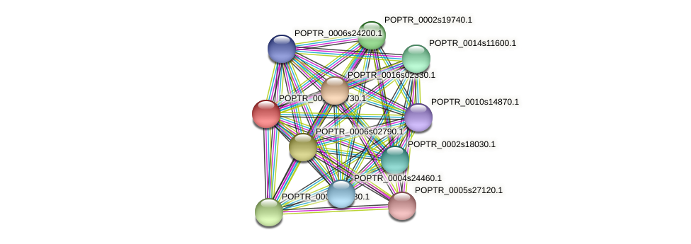 POPTR_0011s15730.1 protein (Populus trichocarpa) - STRING interaction network