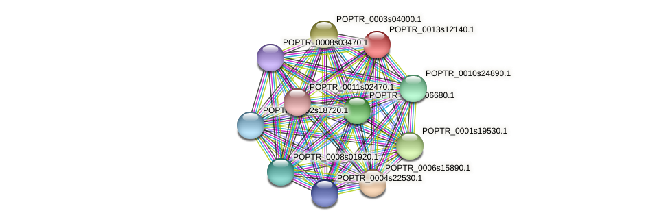 POPTR_0013s12140.1 protein (Populus trichocarpa) - STRING interaction network