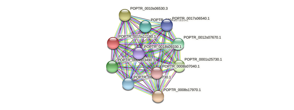 POPTR_0015s12180.1 protein (Populus trichocarpa) - STRING interaction network