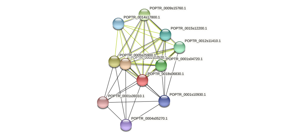 POPTR_0018s06830.1 protein (Populus trichocarpa) - STRING interaction network