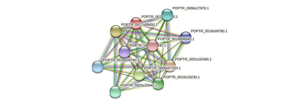 POPTR_0019s10010.1 protein (Populus trichocarpa) - STRING interaction network
