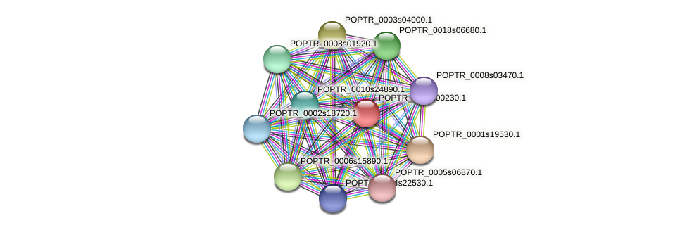 POPTR_0109s00230.1 protein (Populus trichocarpa) - STRING interaction network