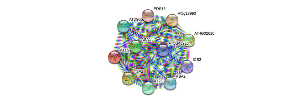 AT1G25155.1 protein (Arabidopsis thaliana) - STRING interaction network