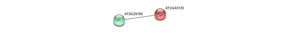 AT1G43720 protein (Arabidopsis thaliana) - STRING interaction network