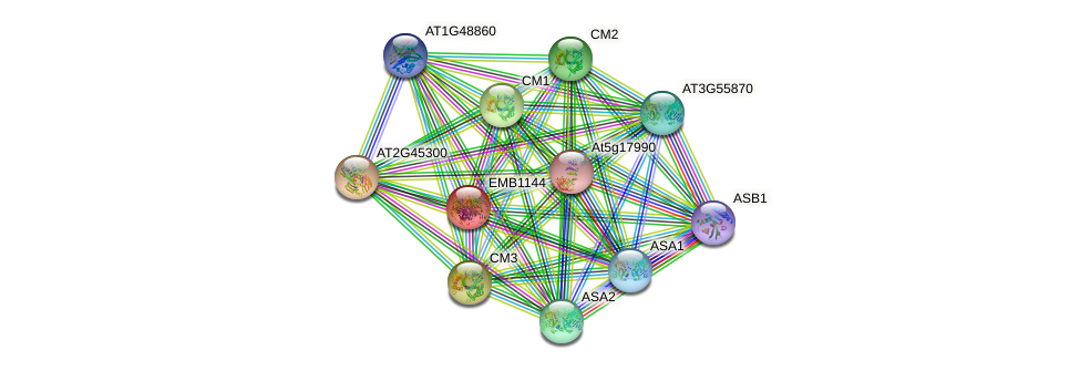EMB1144 protein (Arabidopsis thaliana) - STRING interaction network