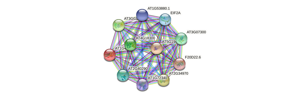 AT1G48970 protein (Arabidopsis thaliana) - STRING interaction network