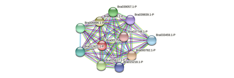 Bra001753 protein (Brassica rapa) - STRING interaction network