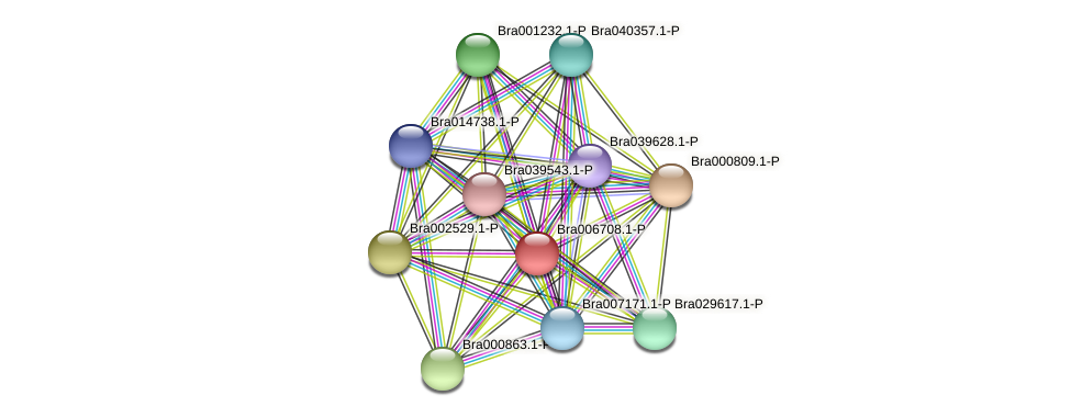 Bra006708 protein (Brassica rapa) - STRING interaction network