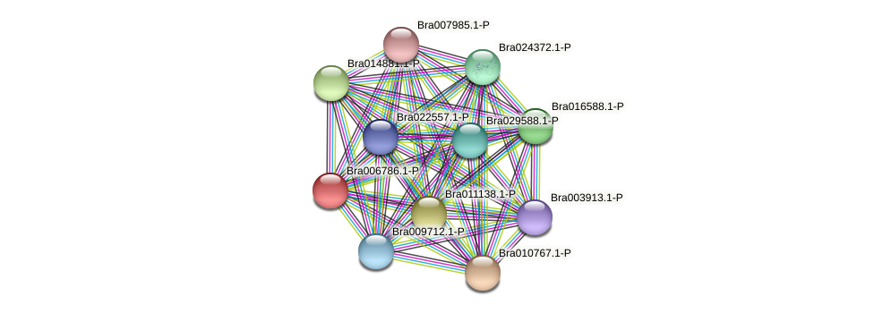 Bra006786 protein (Brassica rapa) - STRING interaction network