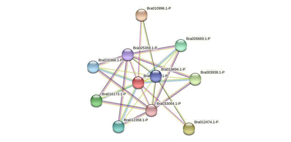 Bra006834 protein (Brassica rapa) - STRING interaction network