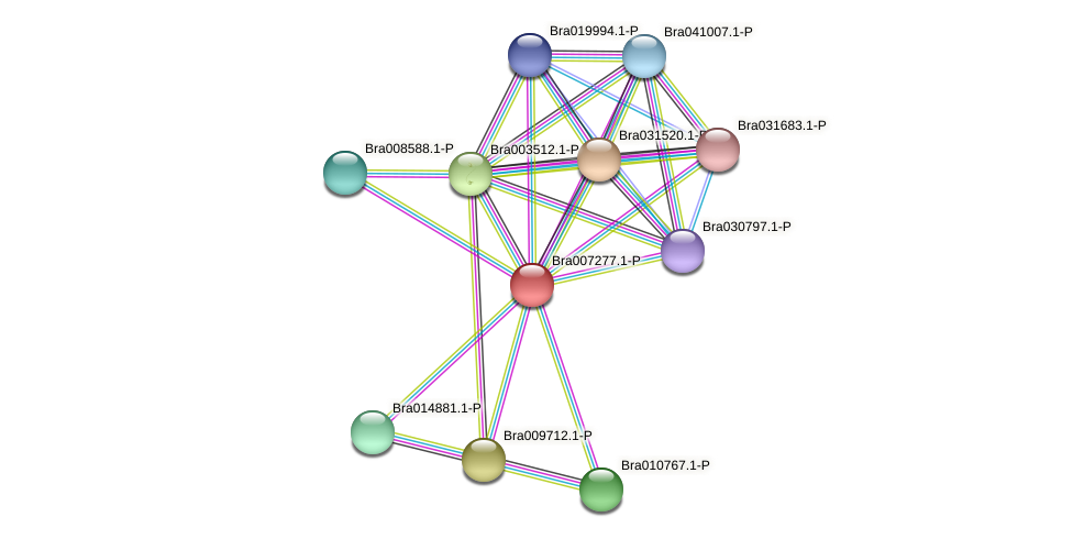 Bra007277 protein (Brassica rapa) - STRING interaction network
