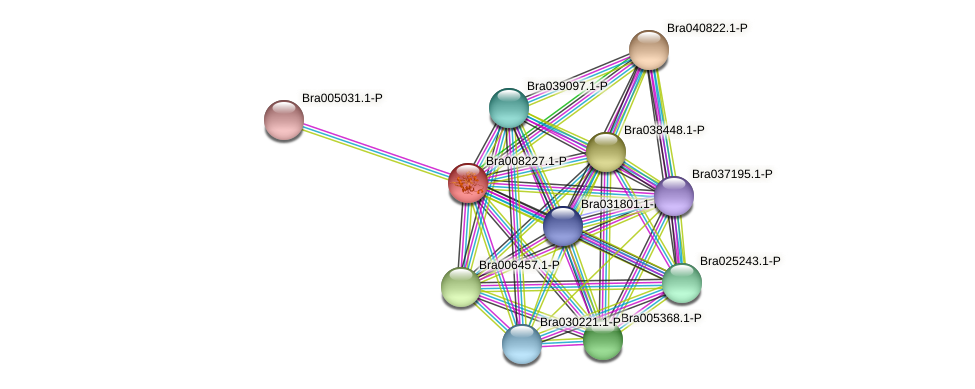 Bra008227 protein (Brassica rapa) - STRING interaction network