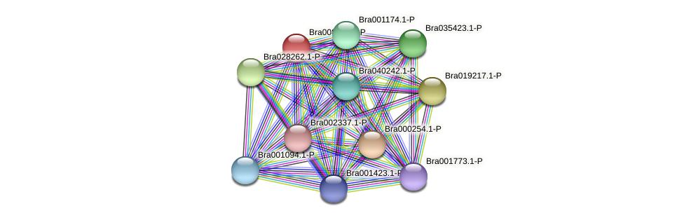 Bra008652 protein (Brassica rapa) - STRING interaction network