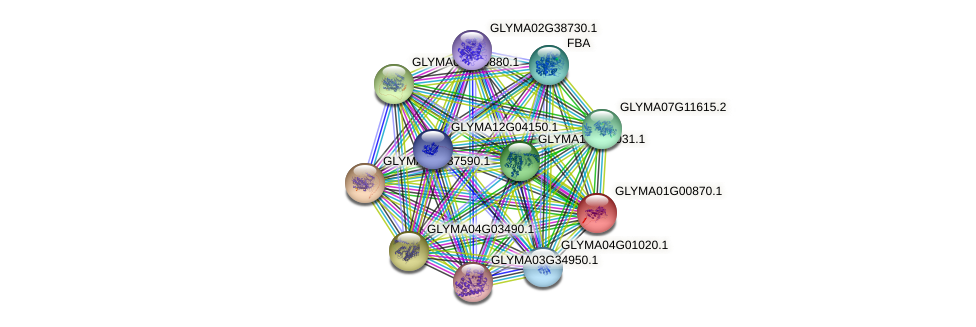 GLYMA01G00870.1 protein (Glycine max) - STRING interaction network