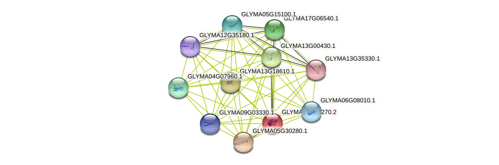 GLYMA01G04270.2 protein (Glycine max) - STRING interaction network