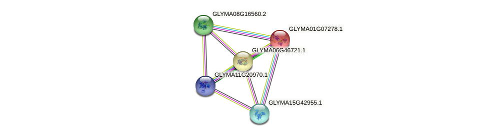 GLYMA01G07278.1 protein (Glycine max) - STRING interaction network