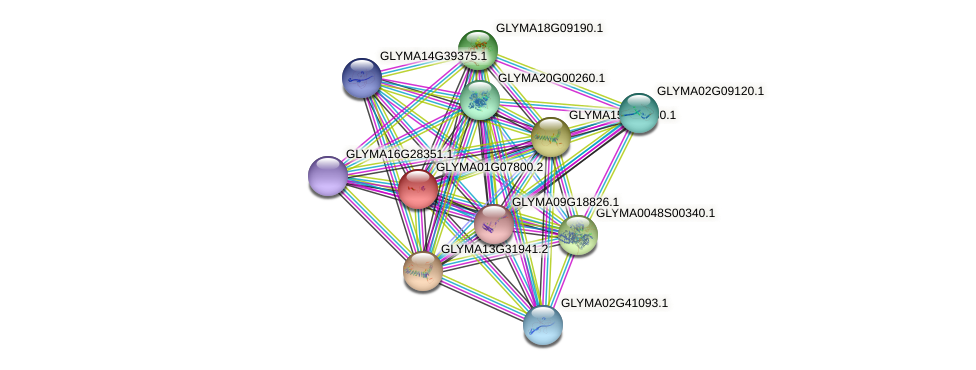 GLYMA01G07800.2 protein (Glycine max) - STRING interaction network