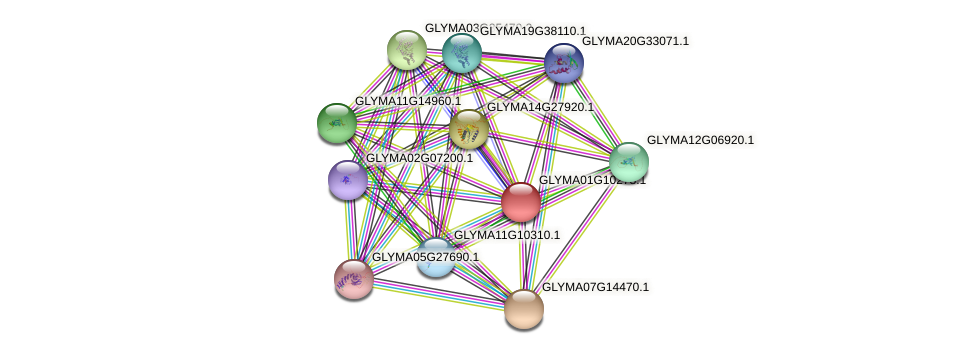 GLYMA01G10278.1 protein (Glycine max) - STRING interaction network