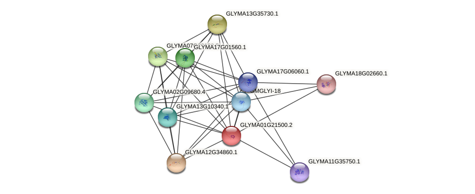 GLYMA01G21500.2 protein (Glycine max) - STRING interaction network
