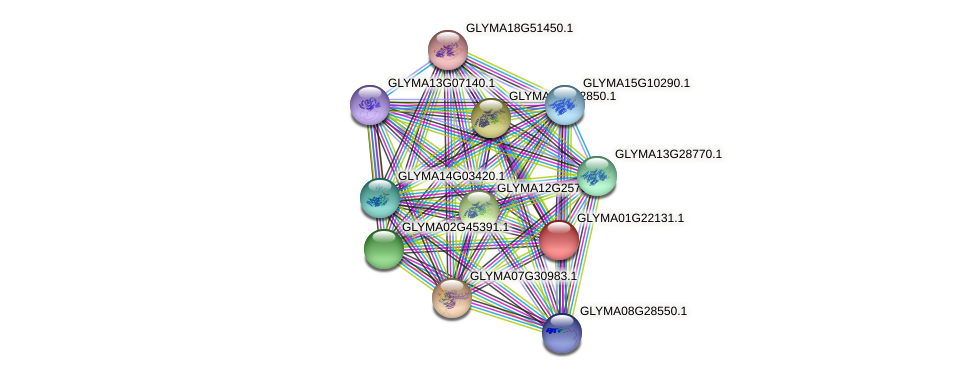 GLYMA01G22131.1 protein (Glycine max) - STRING interaction network
