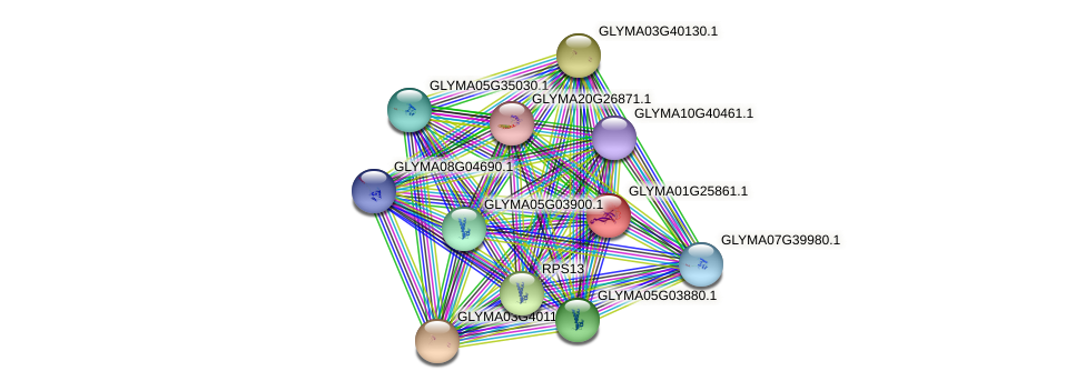 GLYMA01G25861.1 protein (Glycine max) - STRING interaction network