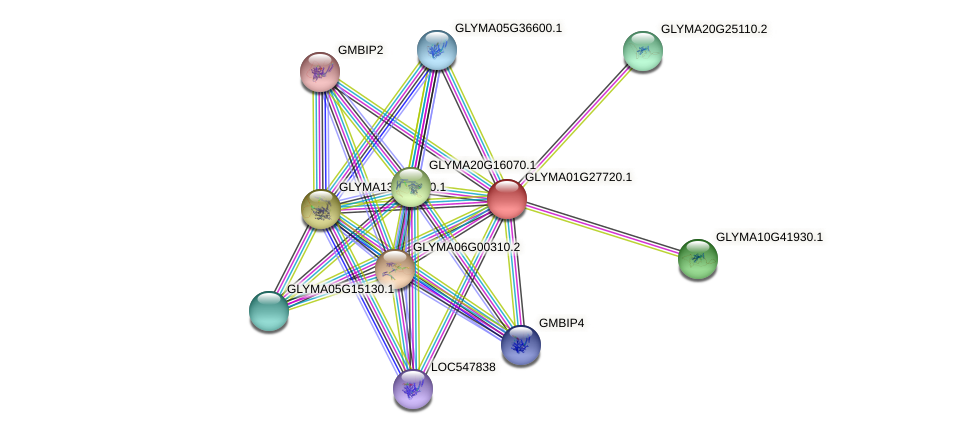 GLYMA01G27720.1 protein (Glycine max) - STRING interaction network