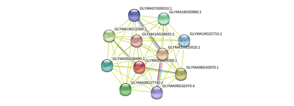GLYMA01G29280.1 protein (Glycine max) - STRING interaction network