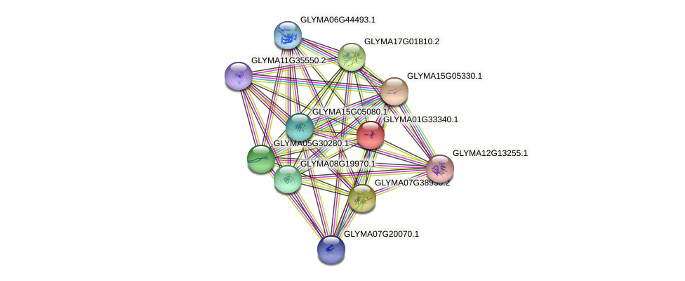 GLYMA01G33340.1 protein (Glycine max) - STRING interaction network