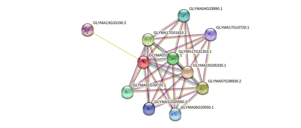 GLYMA01G37341.1 protein (Glycine max) - STRING interaction network