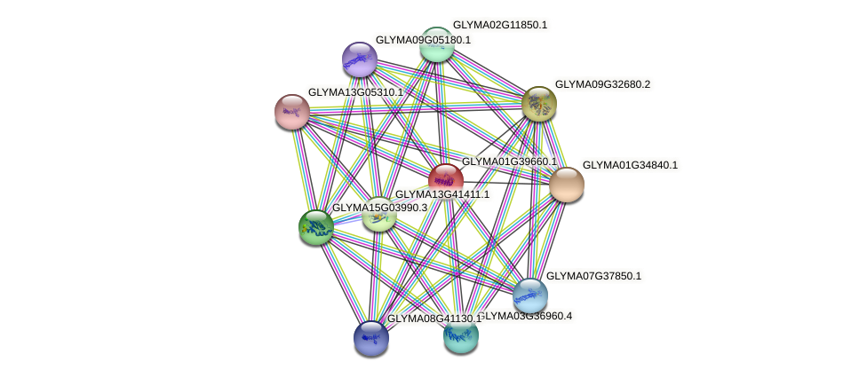 GLYMA01G39660.1 protein (Glycine max) - STRING interaction network