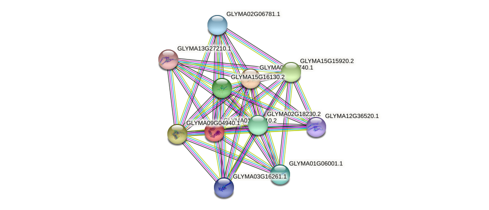 GLYMA01G40110.2 protein (Glycine max) - STRING interaction network