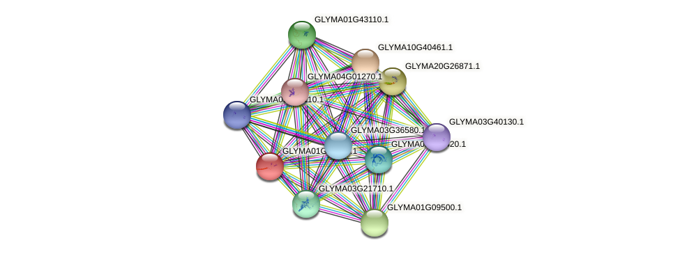 GLYMA01G41810.1 protein (Glycine max) - STRING interaction network